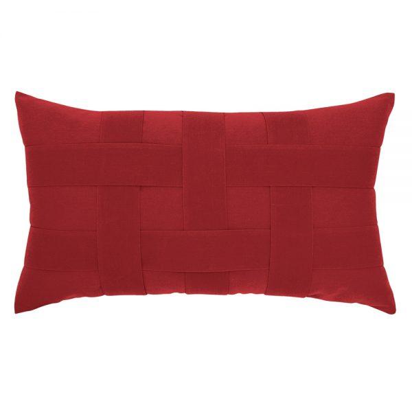 Elaine Smith Basketweave Rouge designer lumbar pillow