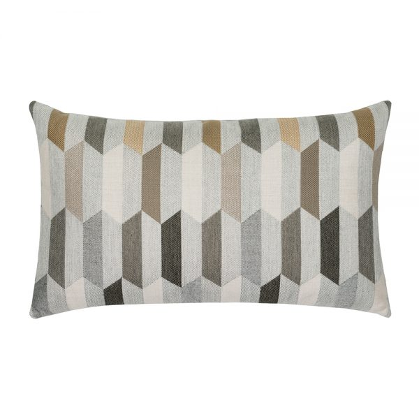 Chiseled Camel outdoor lumbar pillow from Elaine Smith