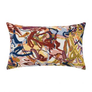 Elaine Smith designer outdoor lumbar pillow - Graffiti