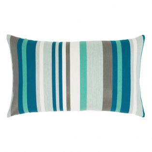 Lagoon Stripe designer lumbar pillow from Elaine Smith