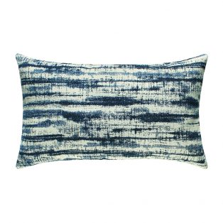 Linear Indigo outdoor lumbar pillow from Elaine Smith