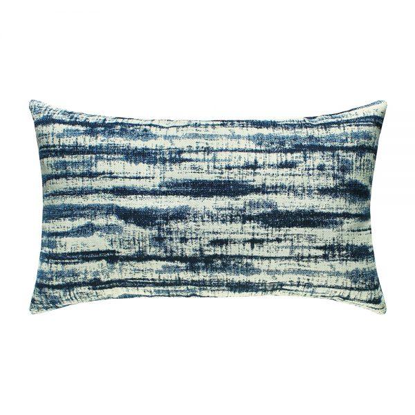 Linear Indigo outdoor lumbar pillow from Elaine Smith