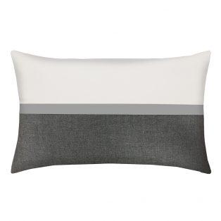 Elaine Smith Mono designer outdoor lumbar pillow