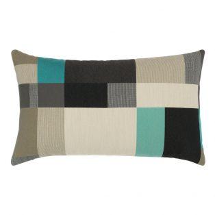 Elaine Smith designer lumbar pillow - Noir Block