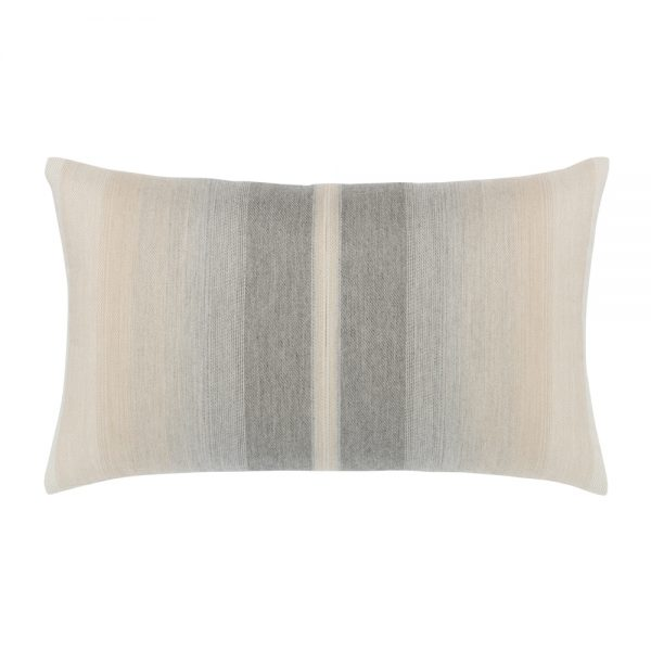 Ombre Grigio Elaine Smith outdoor lumbar pillow