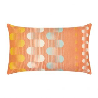 Polka Stripe Elaine Smith patio lumbar pillow