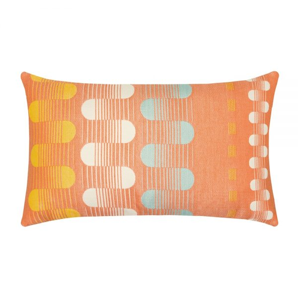 Polka Stripe Elaine Smith patio lumbar pillow