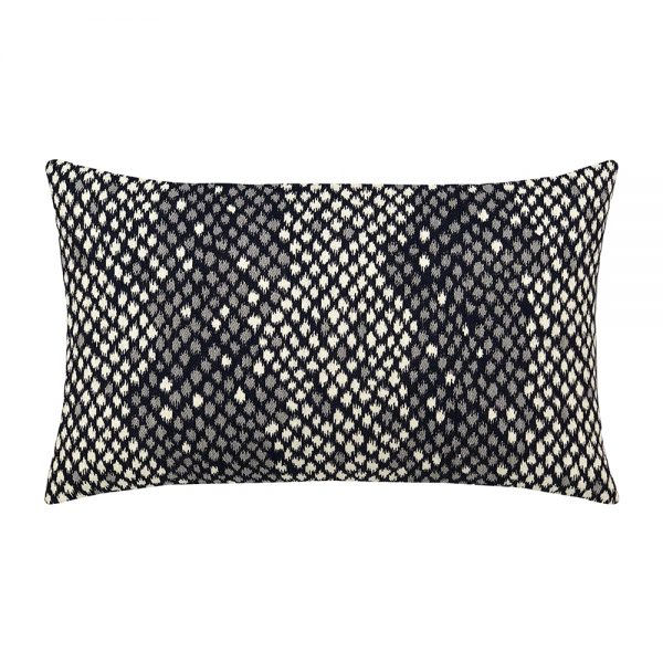 Elaine Smith designer lumbar pillow - Python Midnight