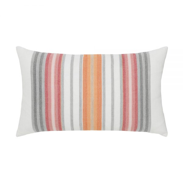 Elaine Smith Sherbet Stripe designer outdoor lumbar pillow
