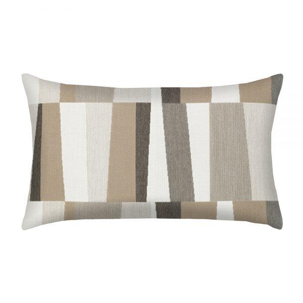 Elaine Smith designer outdoor lumbar pillow - Strata Grigio