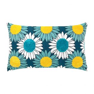 Elaine Smith Sunflower Bloom outdoor lumbar pillow