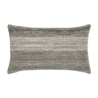 Elaine Smith Textured Grigio designer lumbar pillow