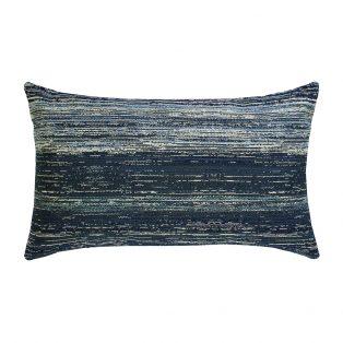 Elaine Smith Textured Indigo designer lumbar pillow