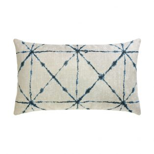 Elaine Smith Trilogy Indigo designer outdoor lumbar pillow