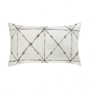 Elaine Smith Trilogy Taupe designer outdoor lumbar pillow
