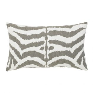 Elaine Smith designer outdoor lumbar pillow - Zebra Grey