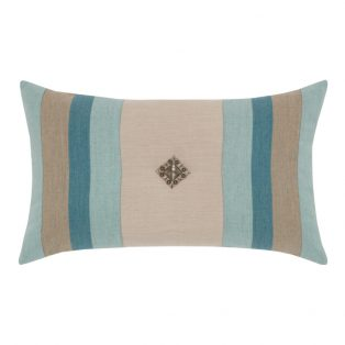 Elaine Smith Color Block Lagoon designer lumbar pillow