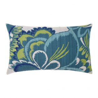Floral Wave outdoor lumbar pillow from Elaine Smith