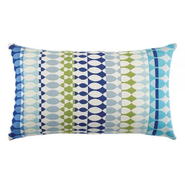Elaine Smith designer outdoor lumbar pillow - Modern Oval Ocean