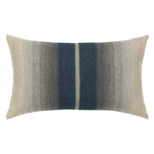Elaine Smith Ombre Indigo designer outdoor lumbar pillow