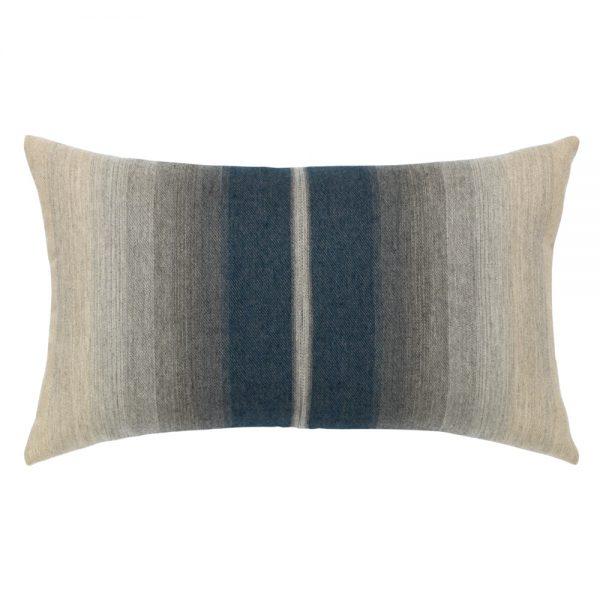 Elaine Smith Ombre Indigo designer outdoor lumbar pillow