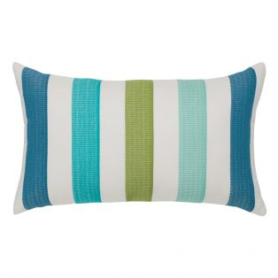 Elaine Smith Rhodes Stripe designer lumbar pillow