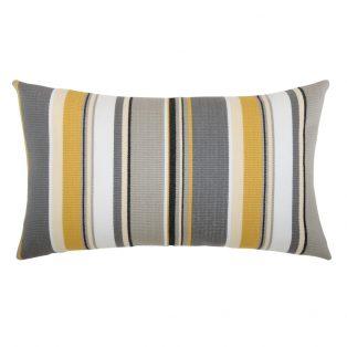 Shadow Stripe outdoor lumbar pillow from Elaine Smith
