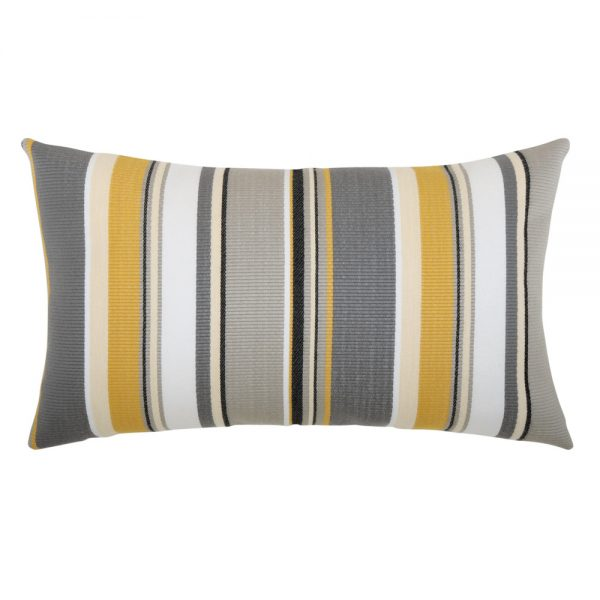 Shadow Stripe outdoor lumbar pillow from Elaine Smith