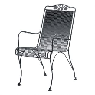 Briarwood high back wrought iron dining chair