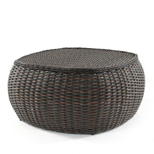 Dreux wicker chat table
