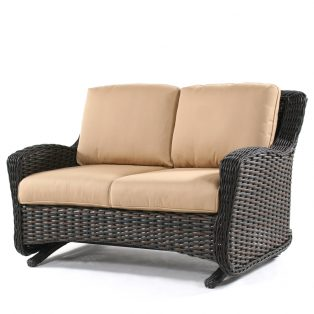 Dreux wicker double glider