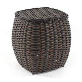 Dreux wicker end table