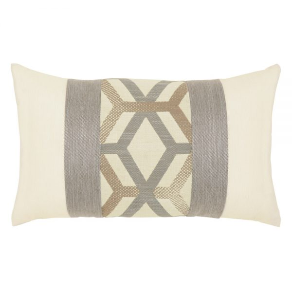 Lustrous Lines outdoor lumbar pillow from Elaine Smith