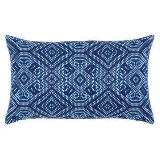 Elaine Smith Midnight Tile designer outdoor lumbar pillow