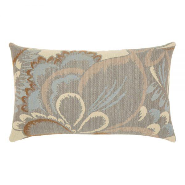 Elaine Smith Floral Mist designer lumbar pillow