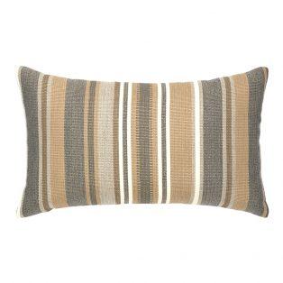 Elaine Smith designer outdoor lumbar pillow - Grigio Stripe