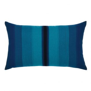 Elaine Smith Ombre Azure designer outdoor lumbar pillow