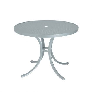 "36"" Round patterned aluminum top dining table"