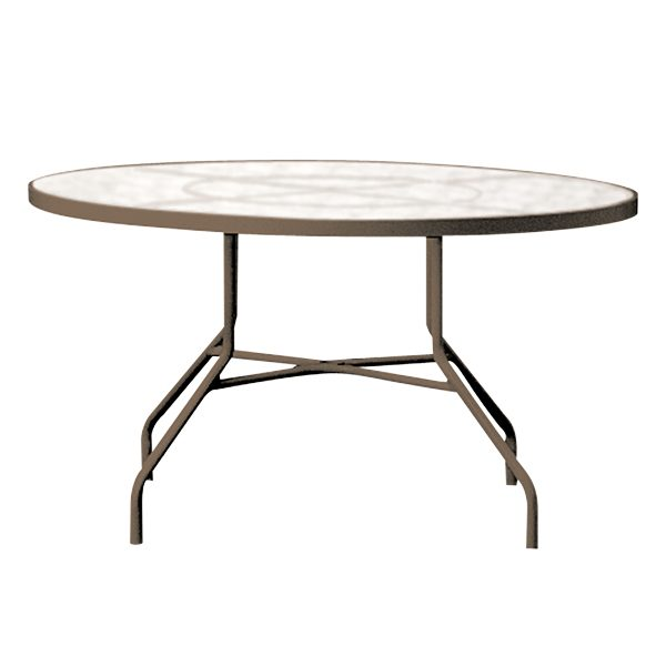 """42"""" round acrylic top dining table"""