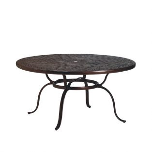 "Tropitone 55"" round cast top dining table"