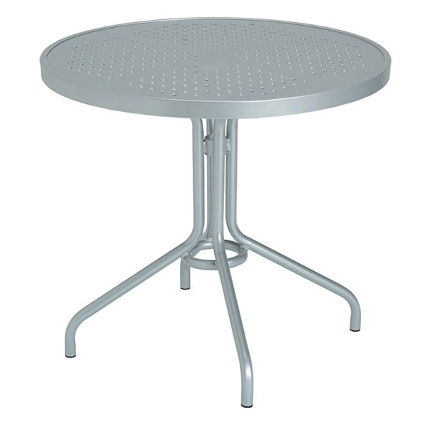 """Tropitone 30"""" round dining table - patterned aluminum top"""