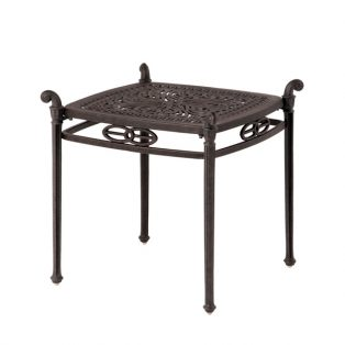 "Hanamint 21"" square Tuscany end table"