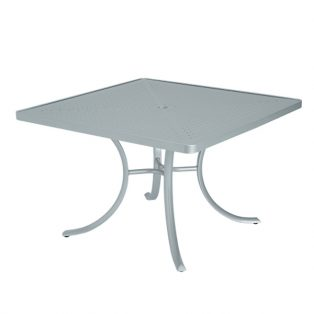 """42"""" Square patterned aluminum top dining table"""
