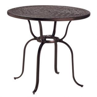 "42"" round cast top bar table"