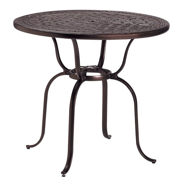 """42"""" round cast top bar table"""