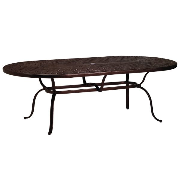 "42"" X 84"" oval cast top dining table"