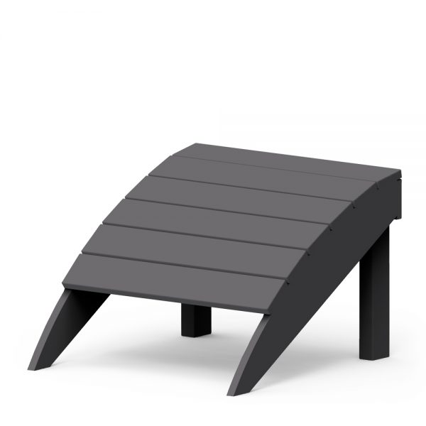 Adirondack foot stool with a Charcoal finish