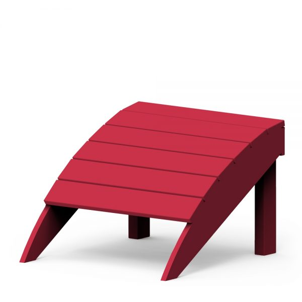 Adirondack foot stool with a Cherry finish