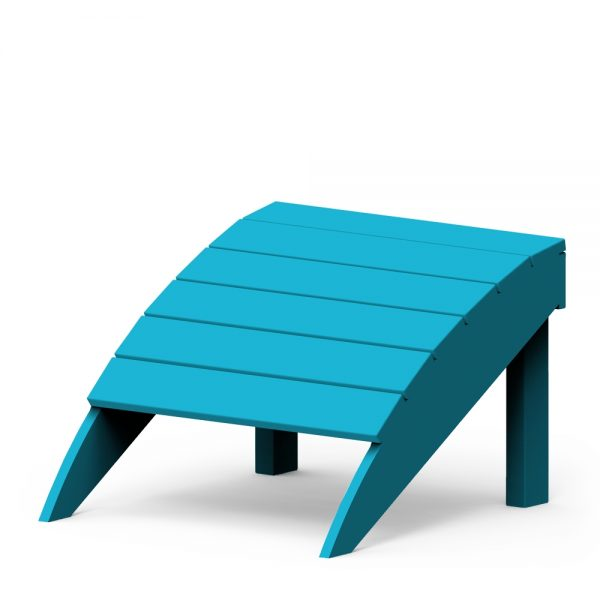 Adirondack foot stool with a Pool finish