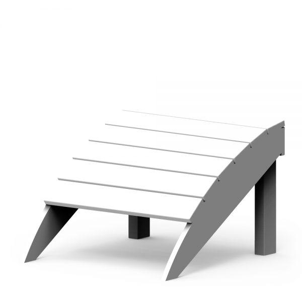 Adirondack foot stool with a White finish